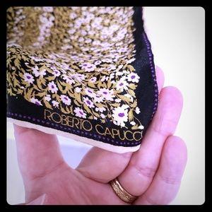 Vintage Robert Capucci 100% silk scarf *beautiful*